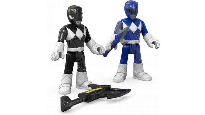Fisher Price - Power Rangers - Blue and Black Rangers