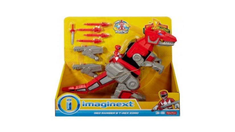 Power Rangers - Red Ranger and T-Rex Zord
