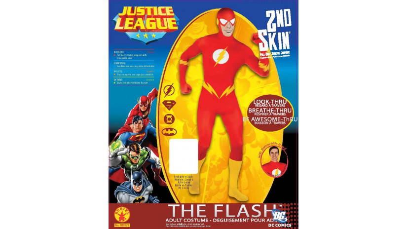 Rubie's 880521L - Costume da Flash, tuta adulto, taglia L