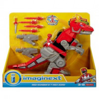 Fisher Price -  Power Rangers - Red Ranger and T-Rex Zord
