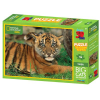 Mystica 10523 - National Geographic Puzzle 3D Tigre